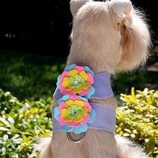 Fantasy Flower Crystal Dog Harness- 4 Colors
