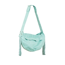 Luxe Suede Fringe Cuddle Carrier- Mint