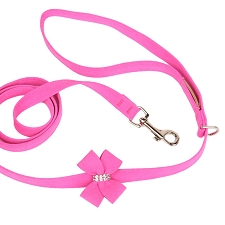 Nouveau Bow Ultrasuede Dog Leash - 20 Colors