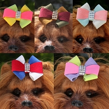 Susan Lanci Pinwheel Hair Bows- 5 Colors