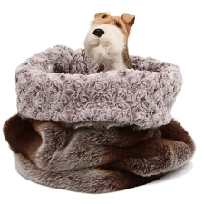 Cuddle Cup Dog Bed - Platinum Chinchilla