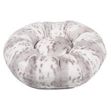 Susan Lanci Platinum Snow Leopard Dog Bed