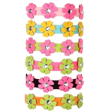Pretty Petunia Swarovski Crystal Dog Collar- Six Colors