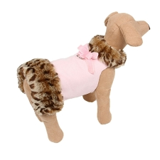 Savannah Fluff Muff Dog Jacket- Pink