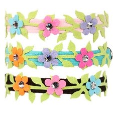 Secret Garden Crystal Dog Collar- 5 Colors