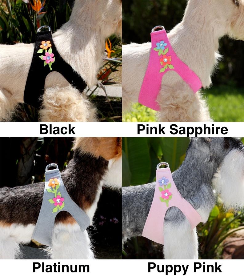 Susan Lanci Secret Garden Crystal Step In Dog Harness At