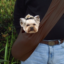 Susan Lanci Dog Carrier Sporty Sling - Chocolate