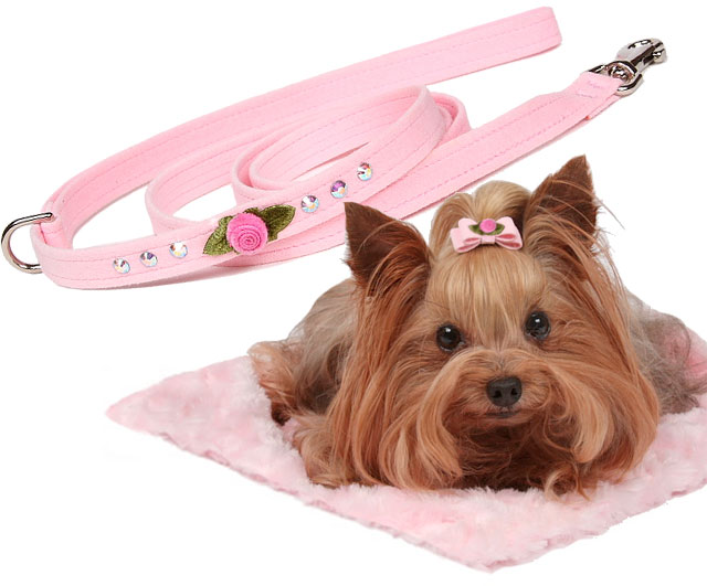 Susan Lanci Sweetheart Rose Swarovski Crystal Dog Harness