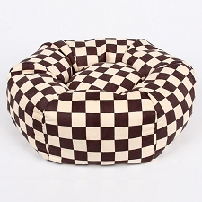 Damier Windsor Check Luxe Suede Dog Bed by Susan Lanci