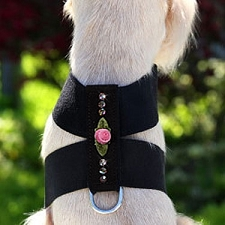 Sweetheart Rose Swarovski Crystal Dog Harness - 20 Colors