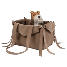 Tail Bow Heart Dog Carrier by Susan Lanci- Fawn