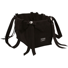 Tail Bow Heart Dog Carrier by Susan Lanci- Black
