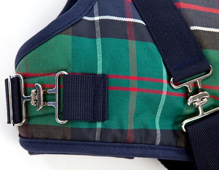 Tartan Horse Blanket Dog Coat With Harness Dog Jackets