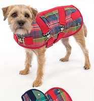 Tartan Horse Blanket Dog Coat with Built-in Harness