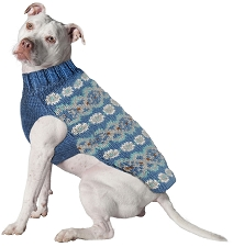 Teal Fairisle Alpaca Sweater by Chilly Dog