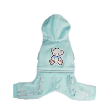 Teddy Onesie Pajamas- Blue