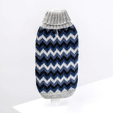 Alpaca Chevron Blue Dog Sweater