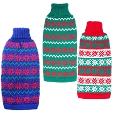 Alpaca Christmas Sweaters- Red, Green, Blue