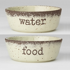 Bailey Ceramic Food & Water Bowl Set
