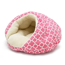 Burger Bed- Geo Diamond Pink