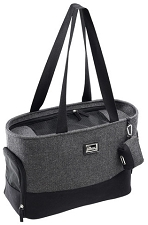 Celine Herringbone Dog Carrier- Grey