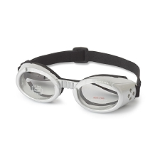 Doggles ILS Sunglasses- Silver with Clear Lens