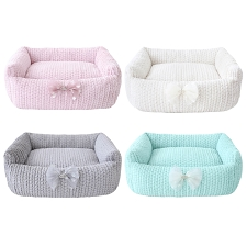 Dolce Bow Dog Bed- 4 Colors