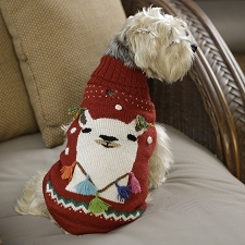 Happy Llama Alpaca Dog Sweater