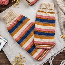 Honey Stripes Alpaca Dog Sweater