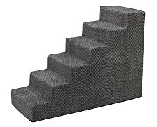 Luxury Microvelvet Pet Steps - Pewter Bones