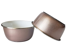 Tulum Dog Bowl Set- Rose Gold