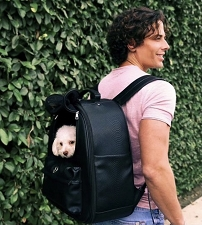 Vanderpump Classic Pet Backpack- Black