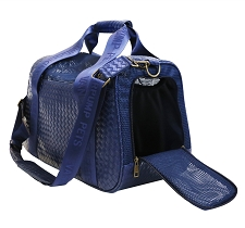 Vanderpump Graphite Duffle Pet Carrier- Navy