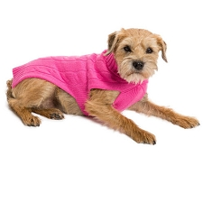 Cashmere Dog Sweater- Hot Pink