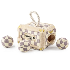 Chewy Vuiton Interactive Checker Trunk Toy