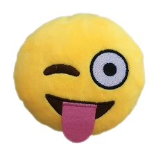 Winky Tongue Emoji Dog Toy