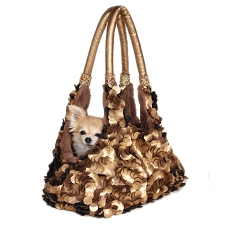 Grand Duchess Dog Carrier- Gold