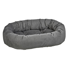 Microvelvet Donut Dog Bed- Ash