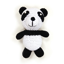 Panda Knit Dog Toy