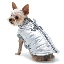 Runner Dog Coat- Silver