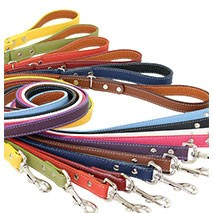Tuscany Italian Leather Dog Leash