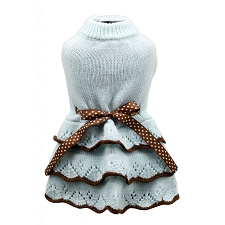 Tiffany Blue Dog Sweater Dress