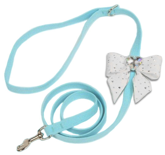 Ultrasuede Tiffy Bow Dog Leash