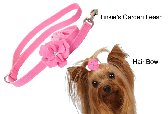 Tinkie's Garden Leash and Bow