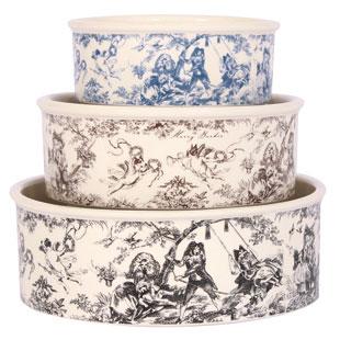 Toile Porcelain Dog Bowls By Harry Barker