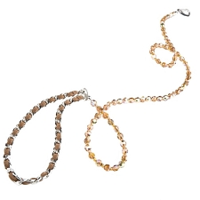 Haute Couture Swarovski Crystal Dog Leash - Topaz