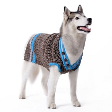 Urban V-Neck Dog Sweater