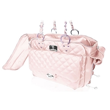 Vanderpump Quilted Classic Luxury Pet Carrier- Pink