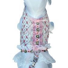 Victorian Rose Dressy Dog Harness