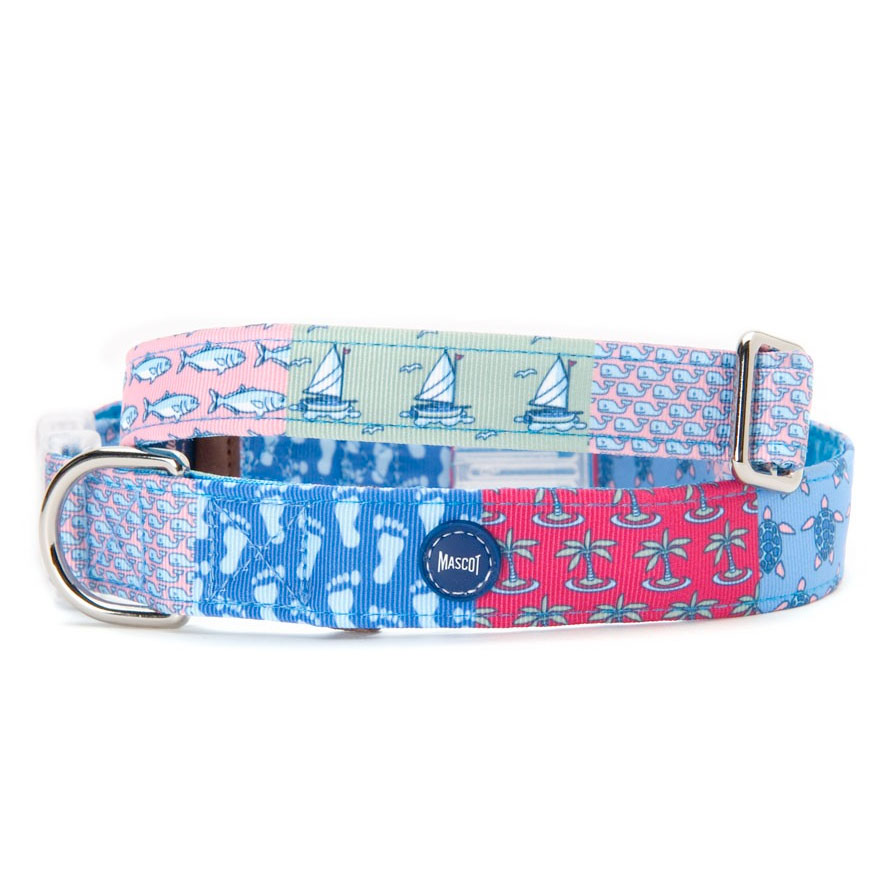 Vineyard Vines Whale Dog Collar - Red- Vibrant red designer cotton dog collar, a brilliant choice! Vineyard Vines® by Mascot®, an exclusive co-branded line designed for the preppiest of Pups! It's a WHALE of a collar & a must have for eve.
